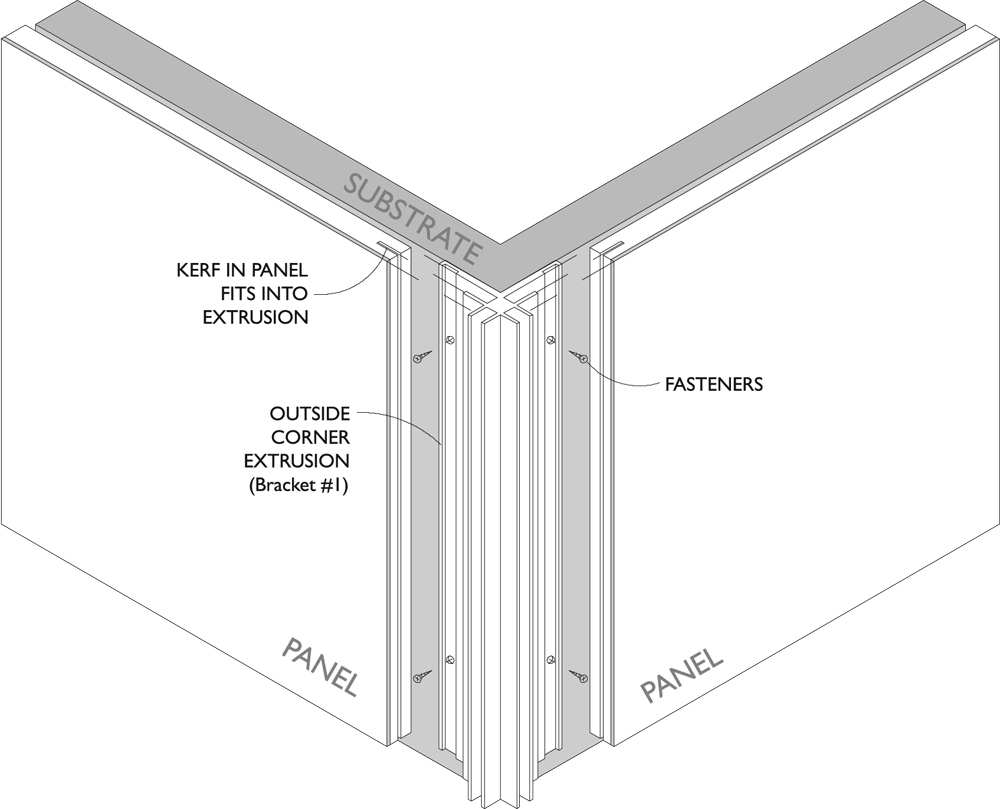 Outside Corner Extrusion