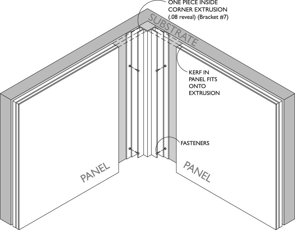 Thinline Inside Corner Extrusion